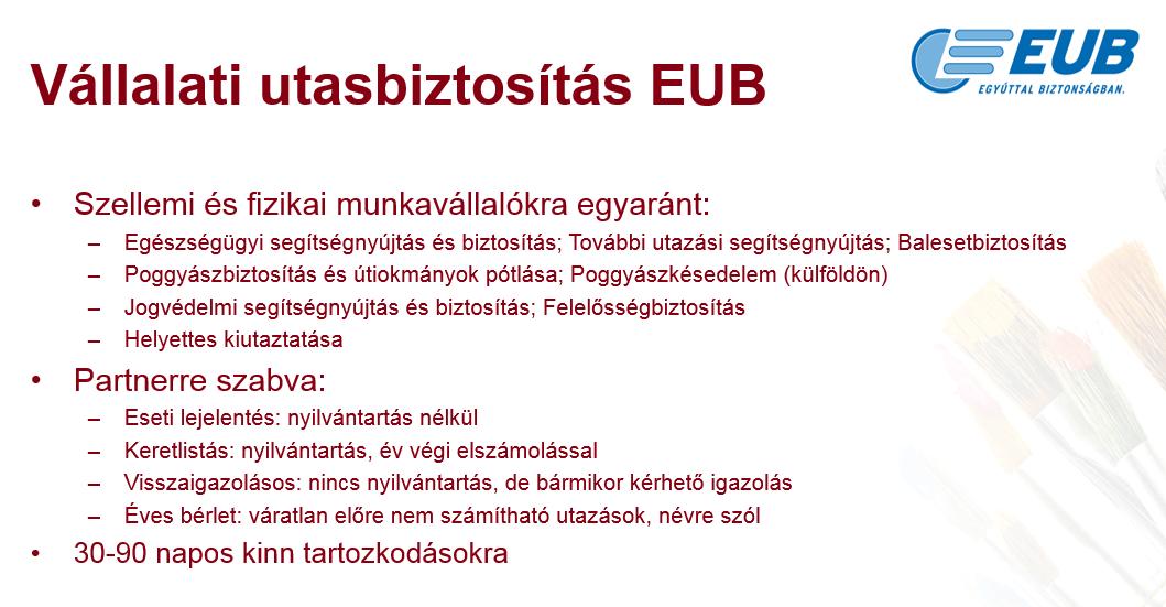 Cégpalettában EUB1